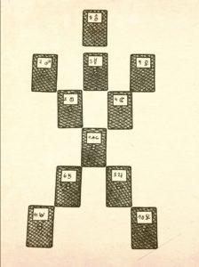 Planetenspiel - Tarot-Legesystem entworfen von Hajo Banzhaf