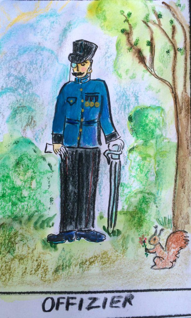 Offizier Zigeuner-Wahrsagekarten Offizier