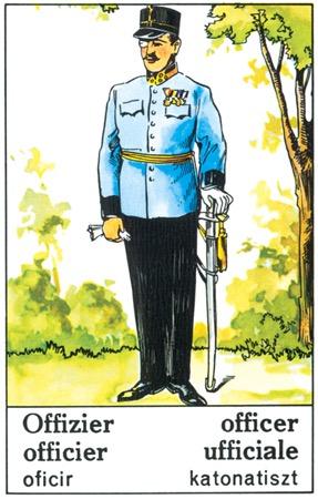 Der Offizier aus den Zigeuner-Wahrsagekarten
